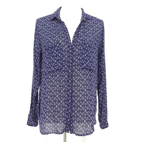cloth & stone Tops - Cloth & Stone Blue Button Front Soft Blouse Top